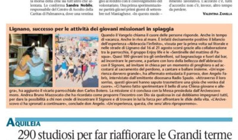 Vita Cattolica articolo 30 agosto 2017 Comunità Enjoy Life