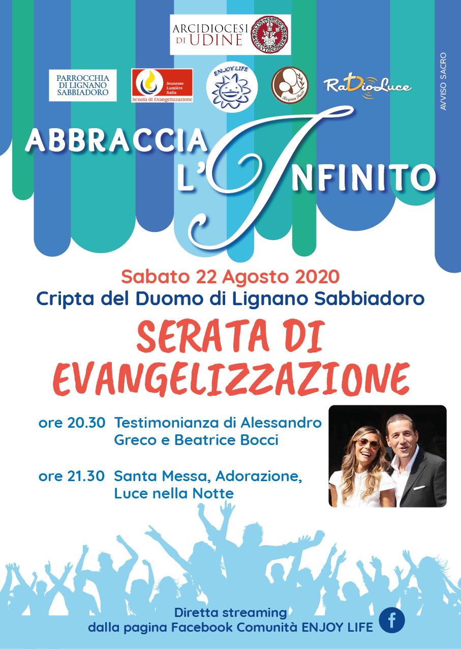 Abbraccia l'Infinito 2020 Comunità Enjoy Life Lignano Sabbiadoro